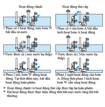 Hướng dẫn lắp đặt máy bơm nước thải chạy luân phiên